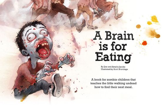 A Brain is for Eating - Kinderbuch über Zombies