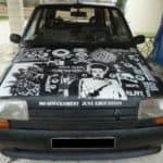 Anarchistische Auto Lackierung