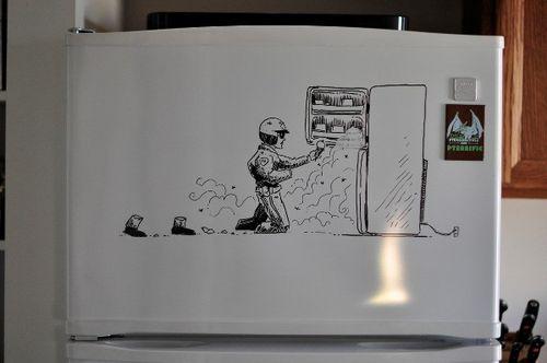 Kühlschrank Tattoo : Kühlschrank aufkleber wandtattoo tattoo für küche selbstbedienung