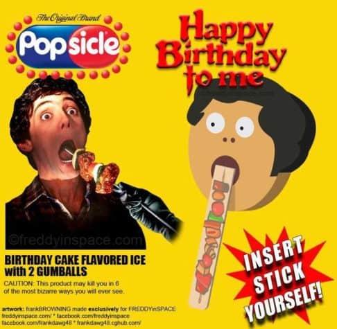 Happy Birthday Horror Movie Eis am Stiel