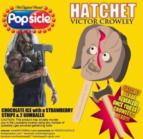 Hatchet Horror Movie Eis am Stiel