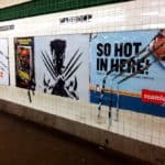"Guerrilla artist adds ""Wolverine"" Advertising"
