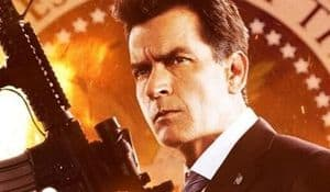 Poster: Charlie Sheen alias Carlos Estevez aka Der Präsident in Machete Kills