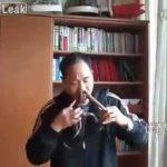 Man runs snake through the nose