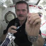 So you wash your hands in space
