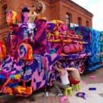 Olek's gehäkelte Lokomotive