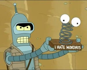 Bender's word to Monday