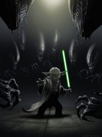 Aliens vs Yoda