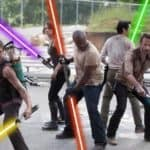 """The Walking Dead"" Con espadas de luz"