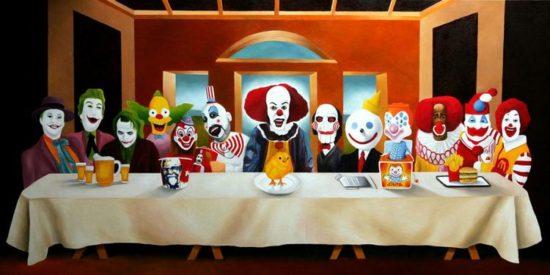 Das letzte Abendmahl: Clowns