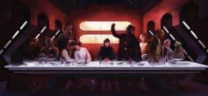 La última cena: guerra de las galaxias