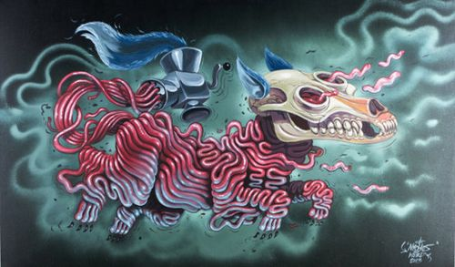 Nychos dissected nen dog
