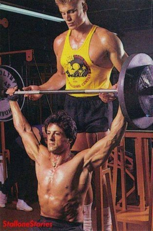 Lundgren & Stallone at their Training Moments for Rocky IV