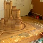 "la ""Game Of Thrones"" Château reconstruit en bois"
