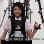 Exoskeleton suit for Japanese schoolgirl