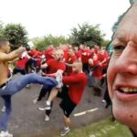 Hooligan Gang Fight kommentiert von David Attenborough