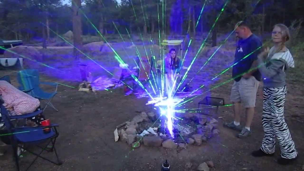 Lagerfeuer mit Laser pimpen