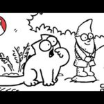 Simon's Cat – Flower Bed