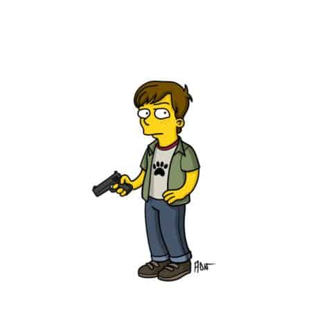 Carl im Simpsons-Style