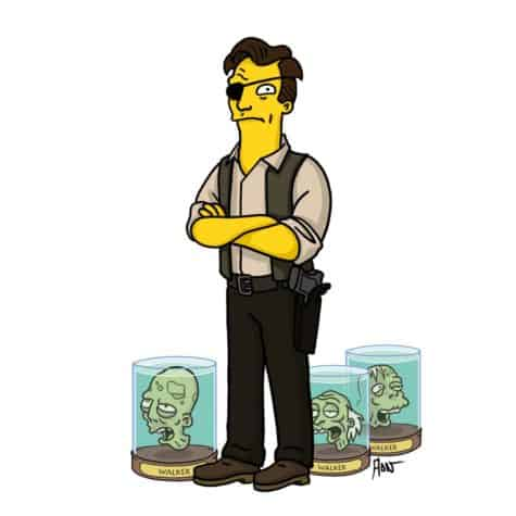 Der Governor im Simpsons-Style