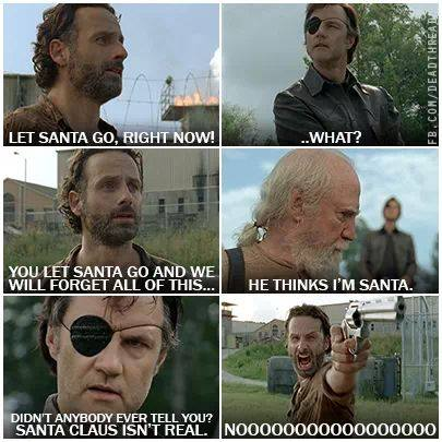 The Governor tells Rick the hard truth. Hershel is not Santa