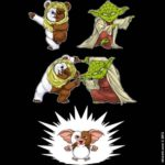 Als Yoda en Ewok steken..