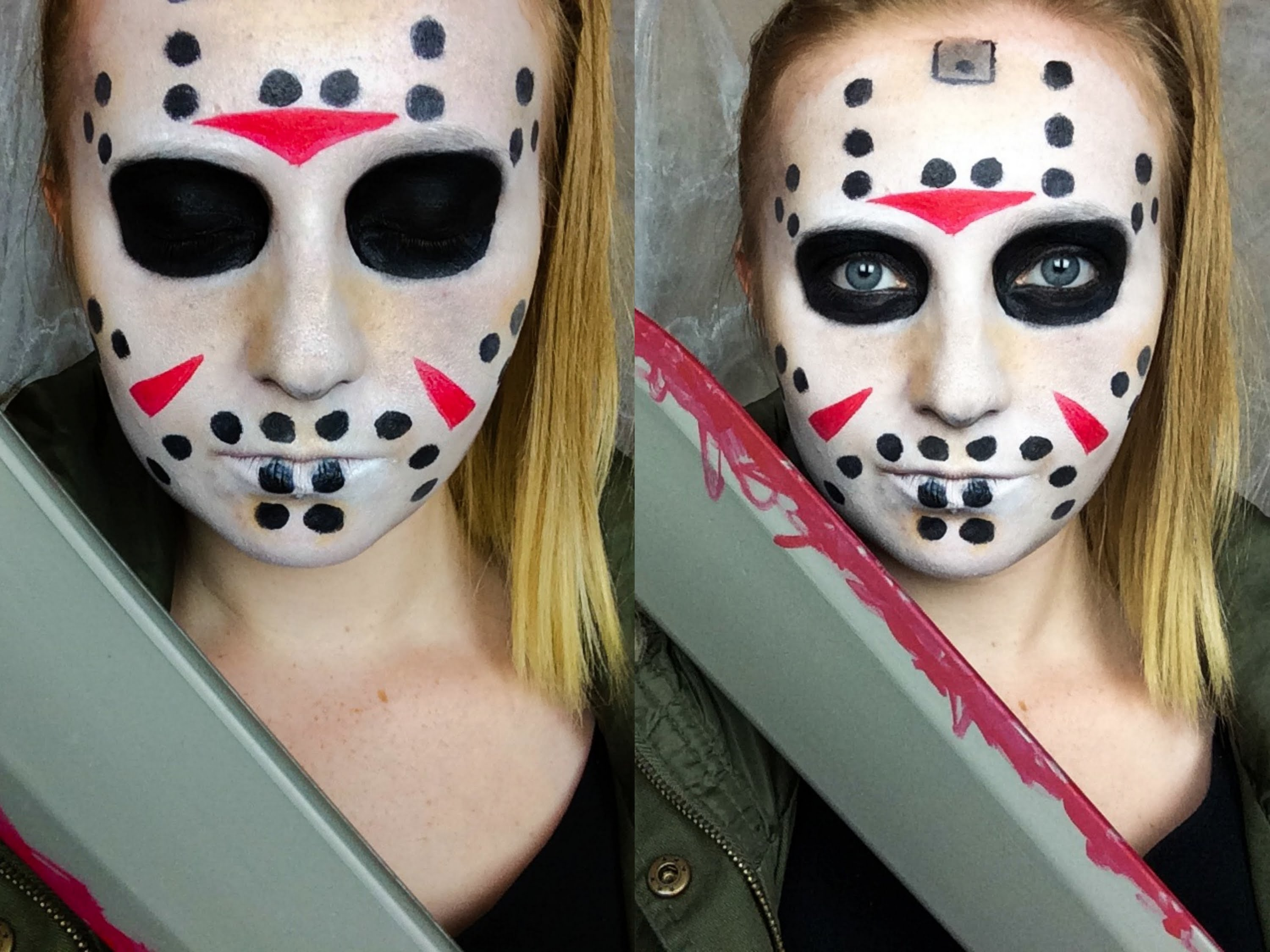 maquillage halloween jason