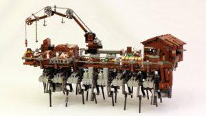 Lego Steampunk Walking Ship