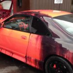 Nissan Skyline with temperature sensitive paint