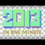 2013 på en minut