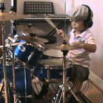 Sweet Child Of Mine drum cover of a three year old