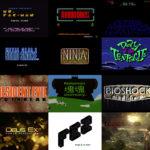 32 Jahre Video Game Titel Design