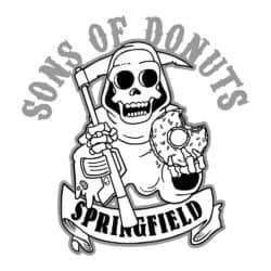 Sons Of Donuts - Of SOA-Logo Simpsonized