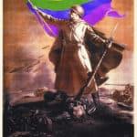 Sowjetischen Propaganda als Gay Pride Plakat