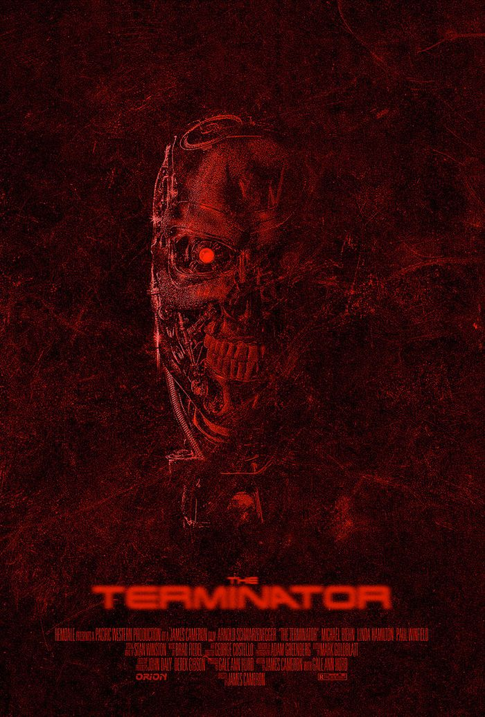 The Terminator Art Posters Dravens Tales From The Crypt