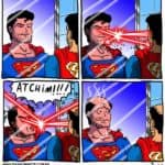 Superman and Cyclops when shaving