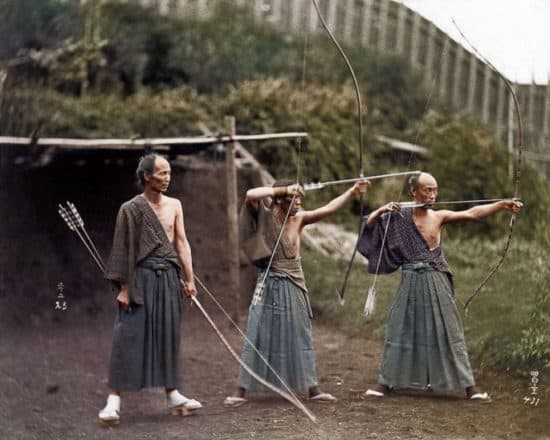 Japanische Bogenschützen, 1860