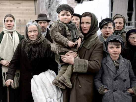 Kriegsflüchtlinge in Belgien, 1945