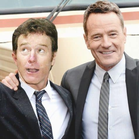 Bryan Cranston - Celebrities together with their younger himself on a Photo
