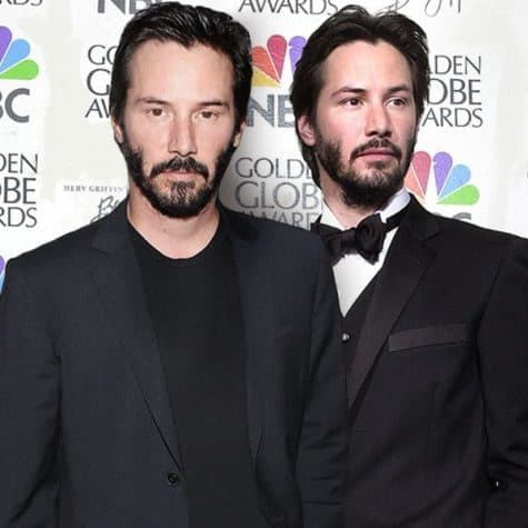 Keanu Reeves - Celebrities together with their younger himself on a Photo