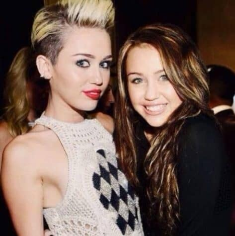 Miley Cyrus - Celebrities together with their younger himself on a Photo