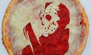 Horror Star Porträts auf der Pizza