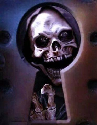 anahtar deliği içinden görünümü Fear