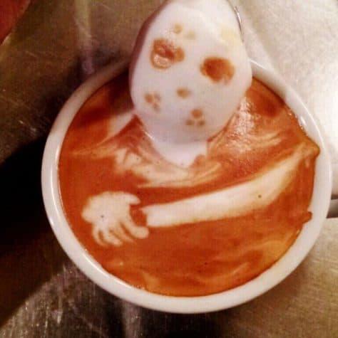 Horror Coffee Art: Jason Voorhees