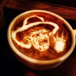 Horror Coffee Art: Freddy Krueger