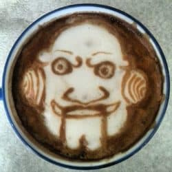 Horror Coffee Art: Jigsaw