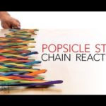 How to tinkering from popsicle sticks chain reactions, instead with Domino's