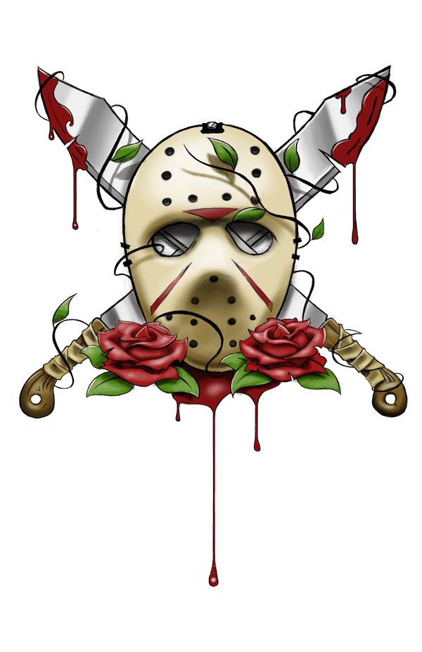Jason Voorhees Mask Tattoo Dravens Tales From The Crypt
