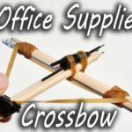 Wie man aus Büromaterial eine Armbrust bastelt