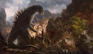 Monster in kitschigen Landschaftsbildern: The Ancient Kaiju Project